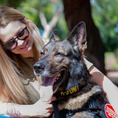 American Humane Reunites Retired Military Working Dog with Handler in Arizona